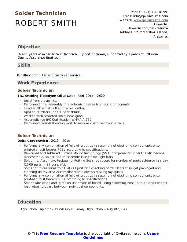 solder technician resume samples qwikresume soldering pdf project management free resize Resume Soldering Technician Resume