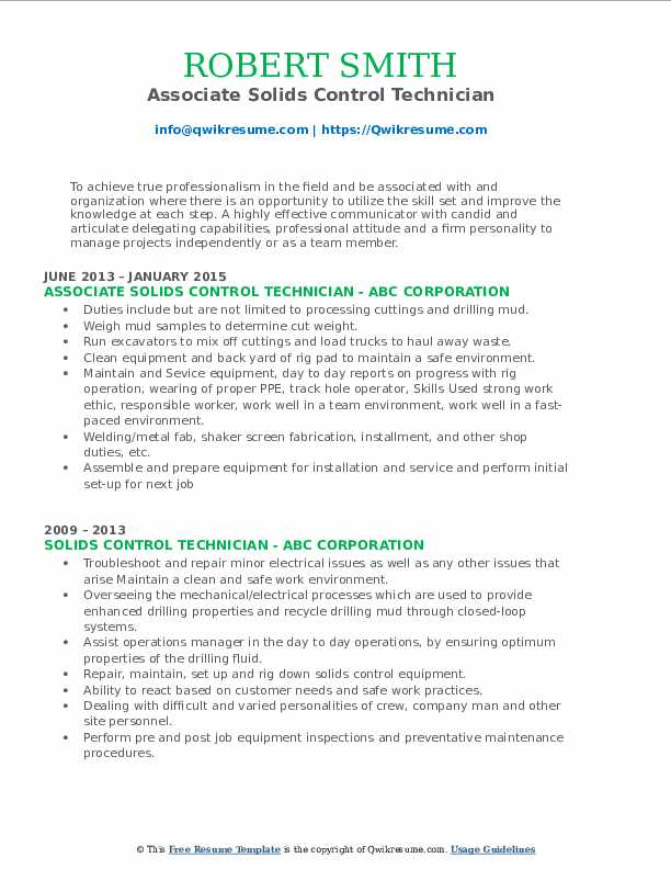 solids control technician resume samples qwikresume pdf navy job descriptions for web Resume Solids Control Technician Resume