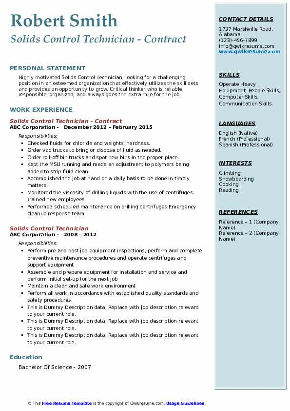 solids control technician resume samples qwikresume pdf print blank form mental health Resume Solids Control Technician Resume
