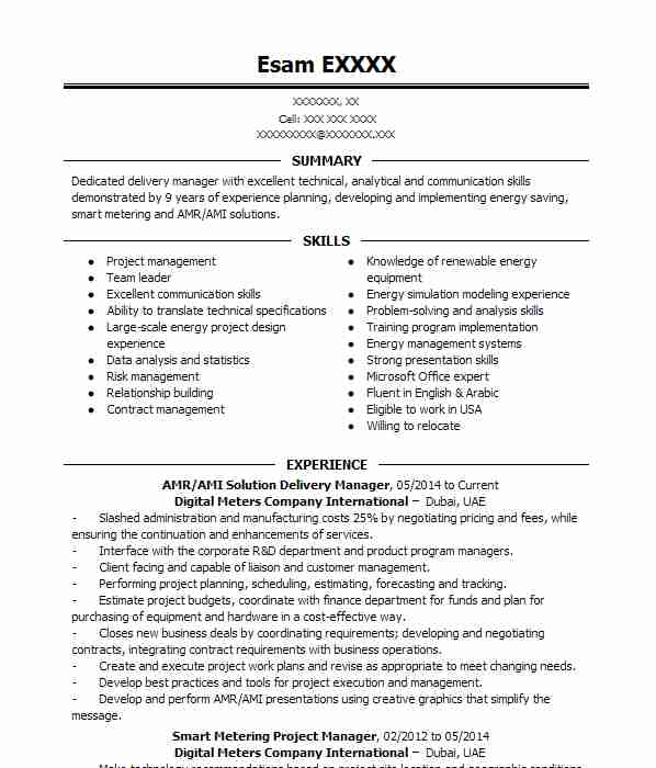solution delivery manager pm resume example microsoft redmond director records Resume Delivery Director Resume