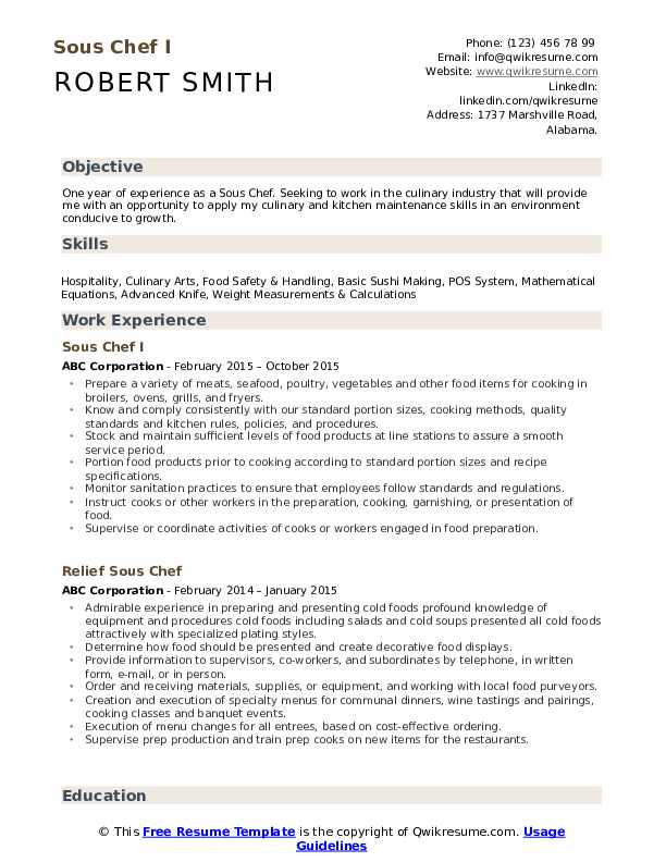 sous chef resume samples qwikresume free pdf salesforce admin projects for ayurvedic Resume Free Sous Chef Resume Samples