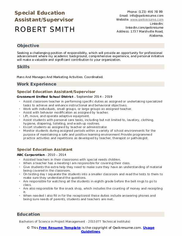 special education assistant resume samples qwikresume needs pdf must haves interview and Resume Special Needs Assistant Resume