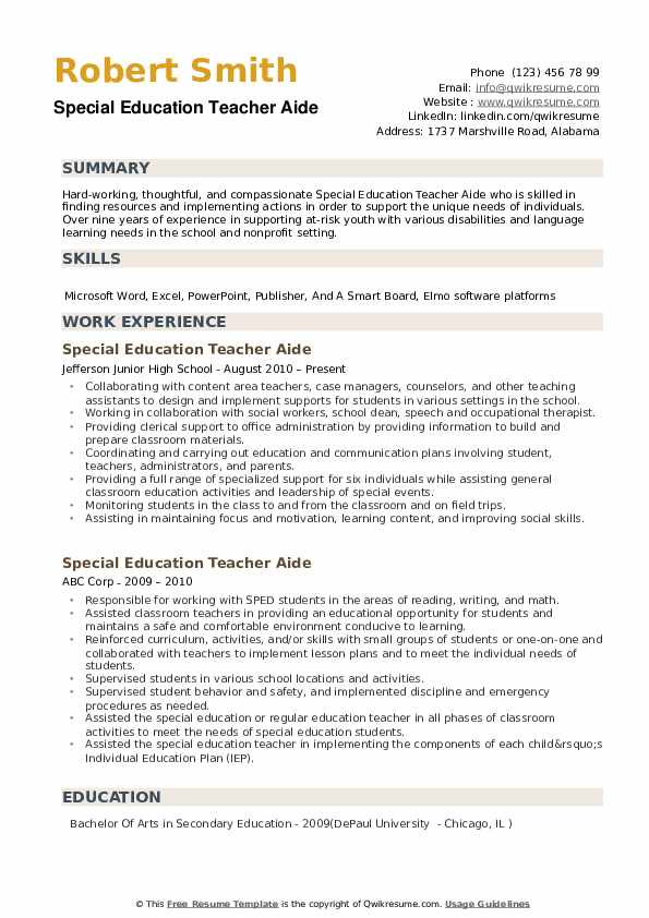 special education teacher aide resume samples qwikresume needs assistant pdf technical Resume Special Needs Assistant Resume