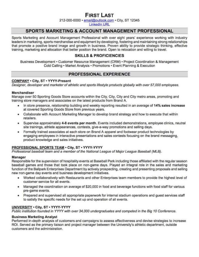 sports and coaching resume sample professional examples topresume management fitness Resume Sports Management Resume