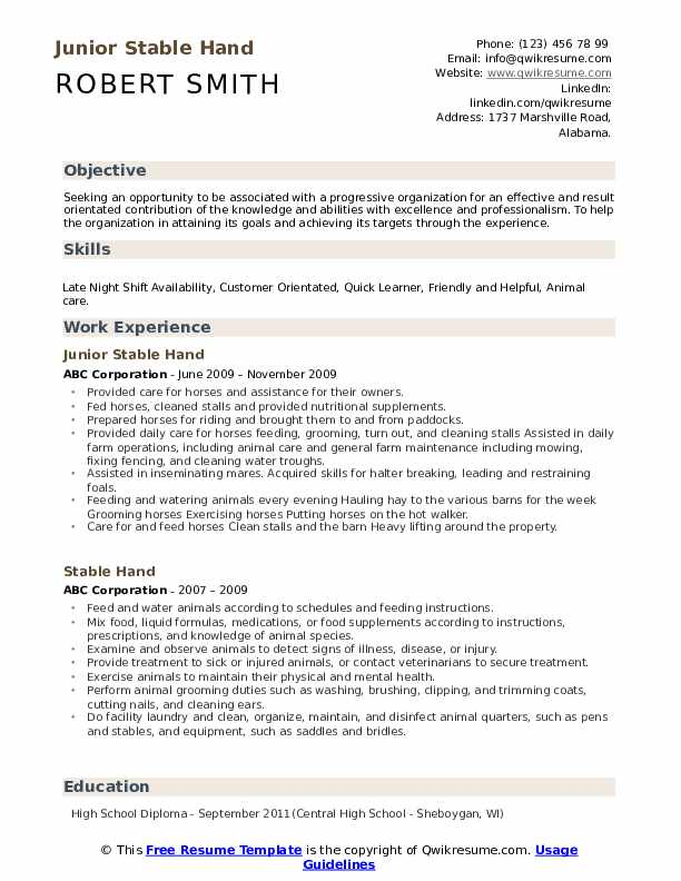 stable resume samples qwikresume availability example pdf the best declaration format Resume Availability Resume Example
