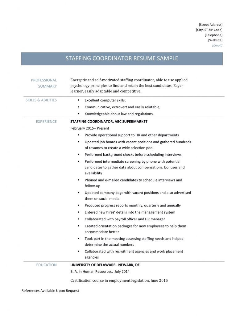 staffing coordinator resume by builders medium sample for position 6l9faaha3vrrlrea cost Resume Sample Resume For Coordinator Position