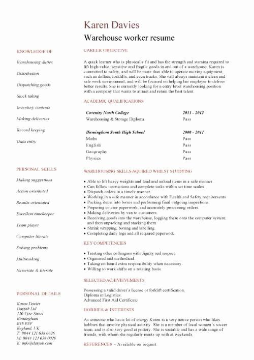 stocking job description resume luxury student entry level warehouse worker temp in Resume Warehouse Administrative Assistant Resume