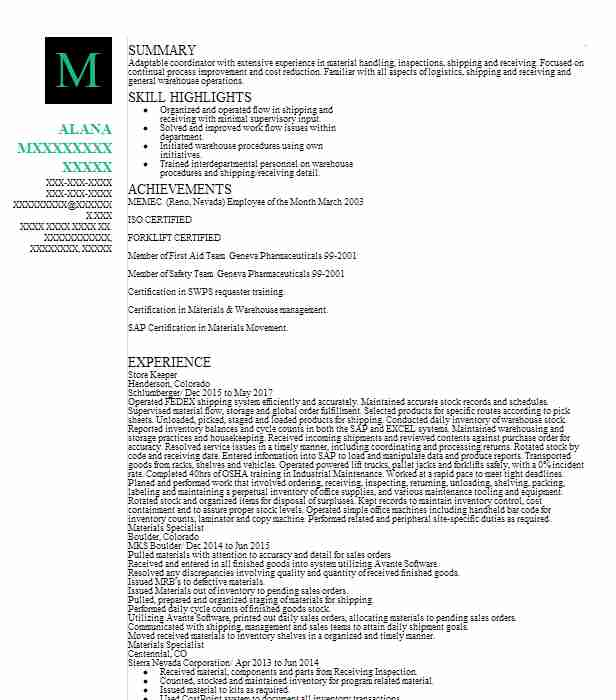 store keeper resume example macdox limited norwalk sample storekeeper objective for entry Resume Sample Resume Storekeeper