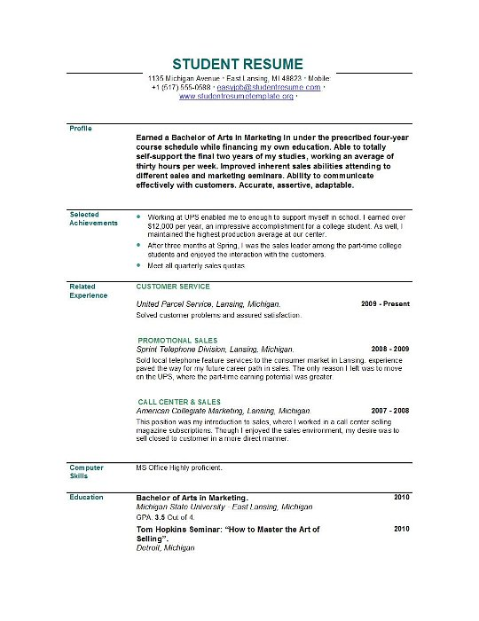student resume templates easyjob recent graduate summary template columns critical Resume Recent Graduate Summary Resume