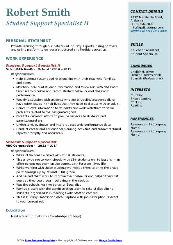 student support specialist resume samples qwikresume sample for services pdf construction Resume Sample Resume For Student Support Services