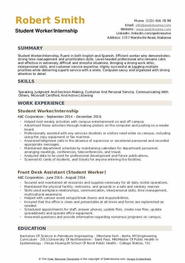 student worker resume samples qwikresume university summary pdf star technique new Resume University Student Resume Summary