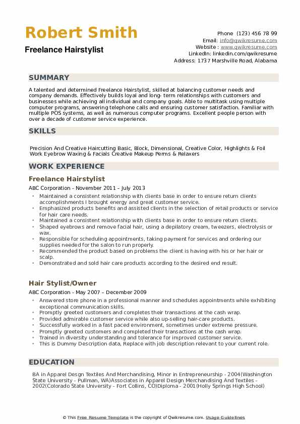 stylist resume samples qwikresume experienced hair pdf candidate for bachelor of science Resume Experienced Hair Stylist Resume