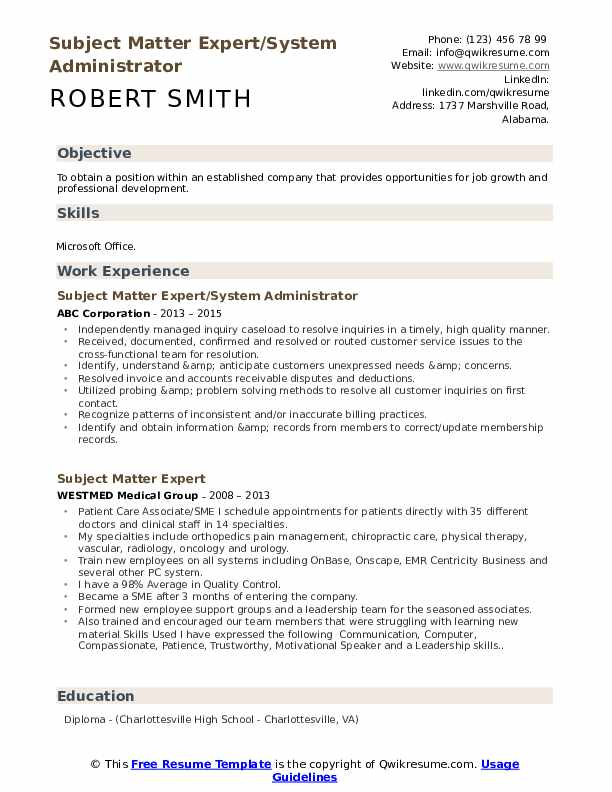 subject matter expert resume samples qwikresume does format pdf character traits for Resume Does Resume Format Matter