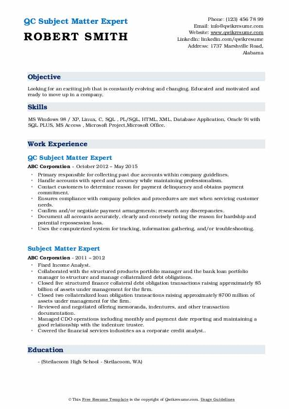 subject matter expert resume samples qwikresume does format pdf moderno great project Resume Does Resume Format Matter