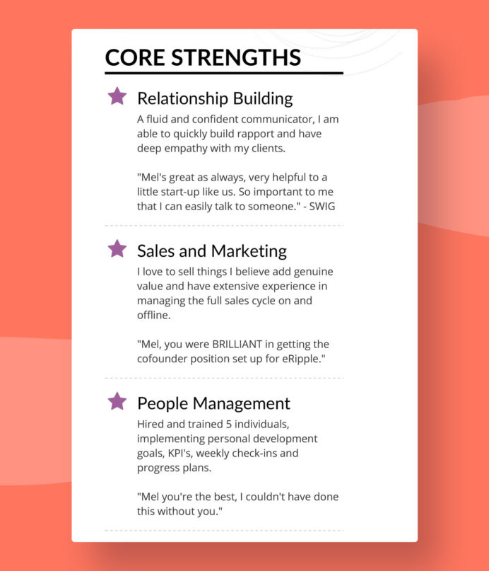 successful resumes do they right unique strengths for resume melanie rn nurse minimalist Resume Unique Strengths For Resume