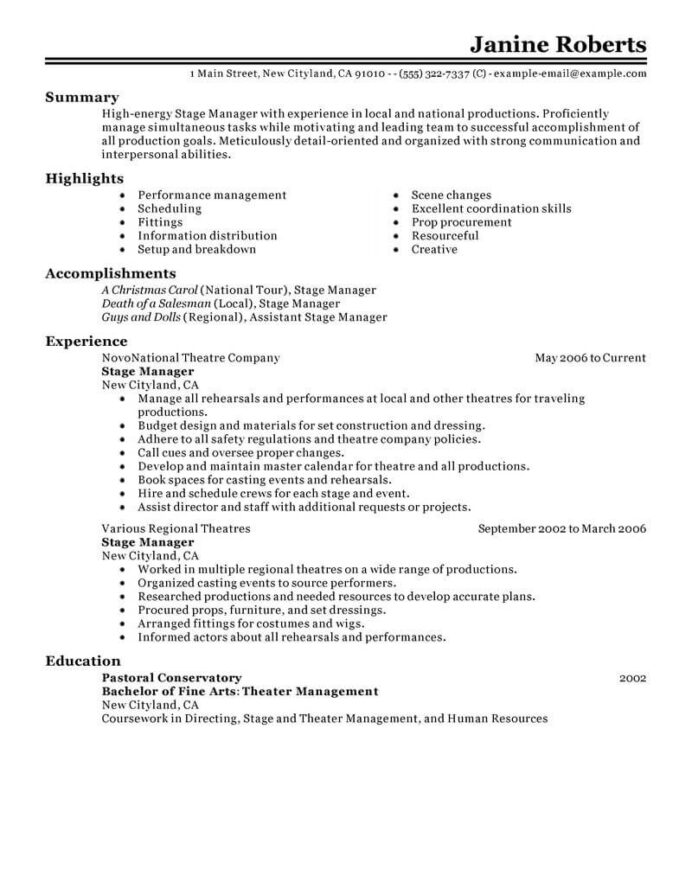 supervisor resume example resumes livecareer for position media entertainment classic pos Resume Resume For Supervisor Position