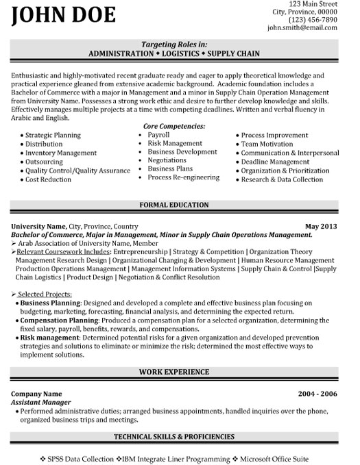 supply chain logistics resume sample template skills for student administration cpc Resume Supply Chain Skills For Resume