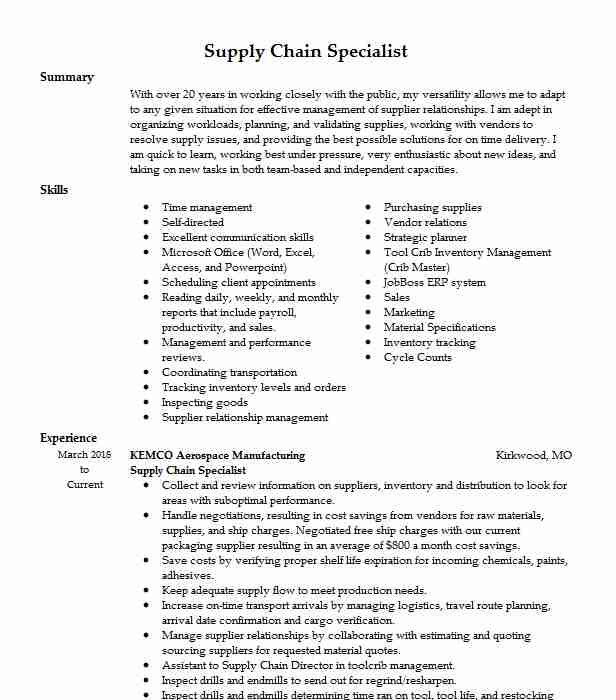 supply chain specialist resume example dhl global forwarding hawthorne new police officer Resume Supply Chain Specialist Resume