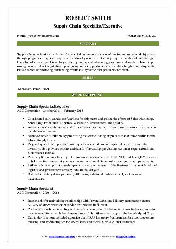 supply chain specialist resume samples qwikresume pdf pointers for mature workers special Resume Supply Chain Specialist Resume