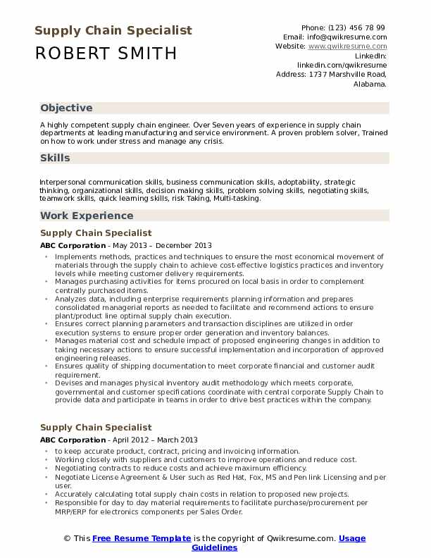 supply chain specialist resume samples qwikresume skills for pdf training coordinator cpc Resume Supply Chain Skills For Resume