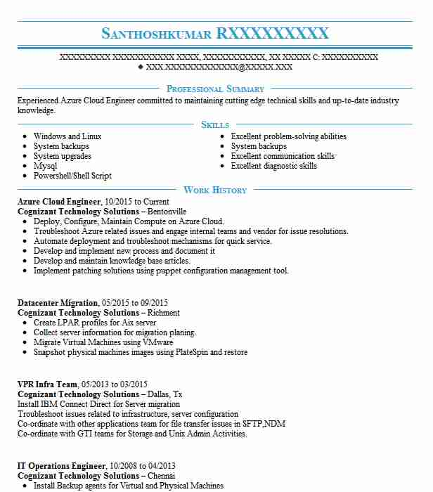 support engineer azure iaas resume example microsoft seattle administrator sample Resume Microsoft Azure Administrator Sample Resume