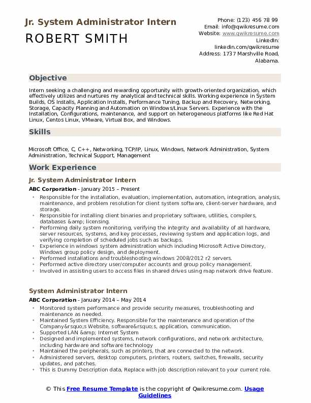 system administrator resume samples qwikresume admin format pdf job objective sample and Resume System Admin Resume Format