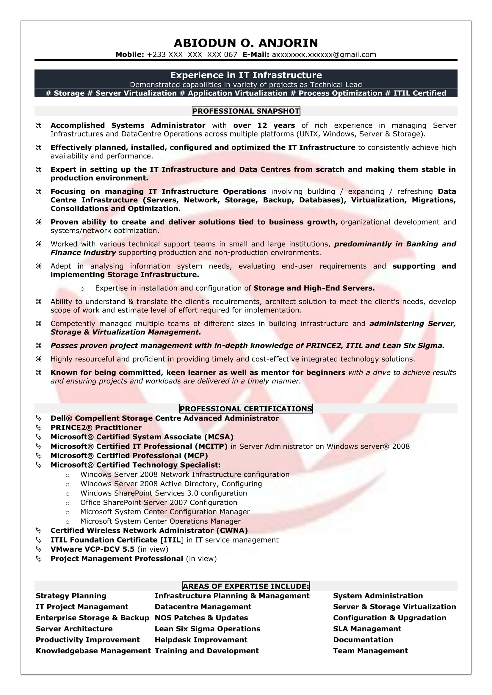system administrator sample resumes resume format templates ats test free document Resume System Administrator Resume Sample Download