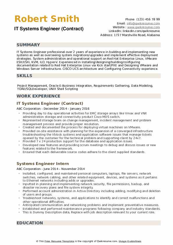 systems engineer resume samples qwikresume system format pdf truck driver duties Resume System Engineer Resume Format