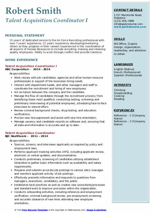 talent acquisition coordinator resume samples qwikresume pdf birthday assistant property Resume Talent Acquisition Coordinator Resume