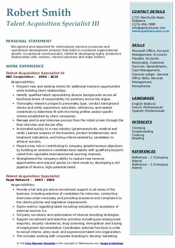 talent acquisition specialist resume samples qwikresume examples pdf advertising account Resume Talent Acquisition Resume Examples