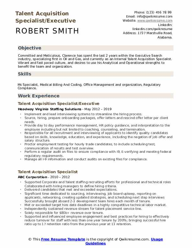 talent acquisition specialist resume samples qwikresume examples pdf preparation sites Resume Talent Acquisition Resume Examples