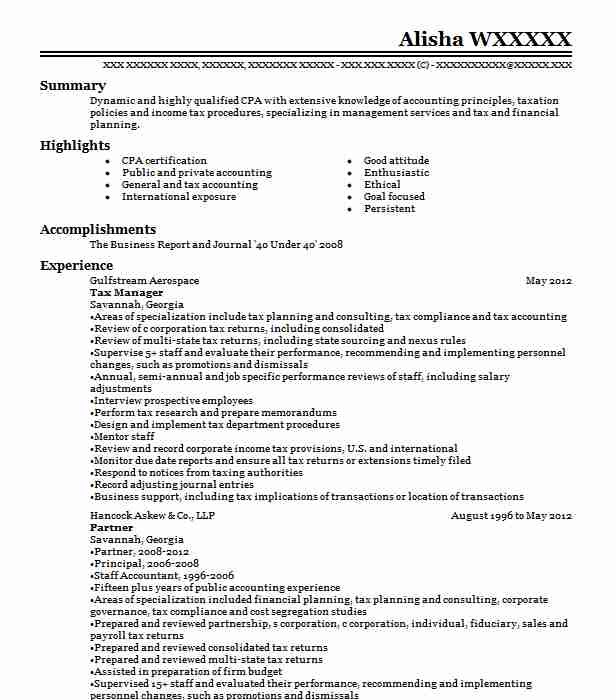 tax manager resume example resumes livecareer office aesthetician firefighter promotion Resume Tax Office Manager Resume