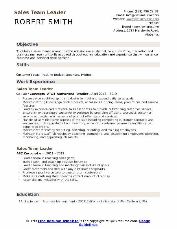 team leader resume samples qwikresume leadership points for pdf draft sending well Resume Leadership Points For Resume