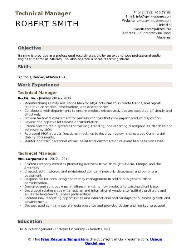 technical manager resume samples qwikresume template pdf pay for server bartender ceo Resume Technical Resume Template