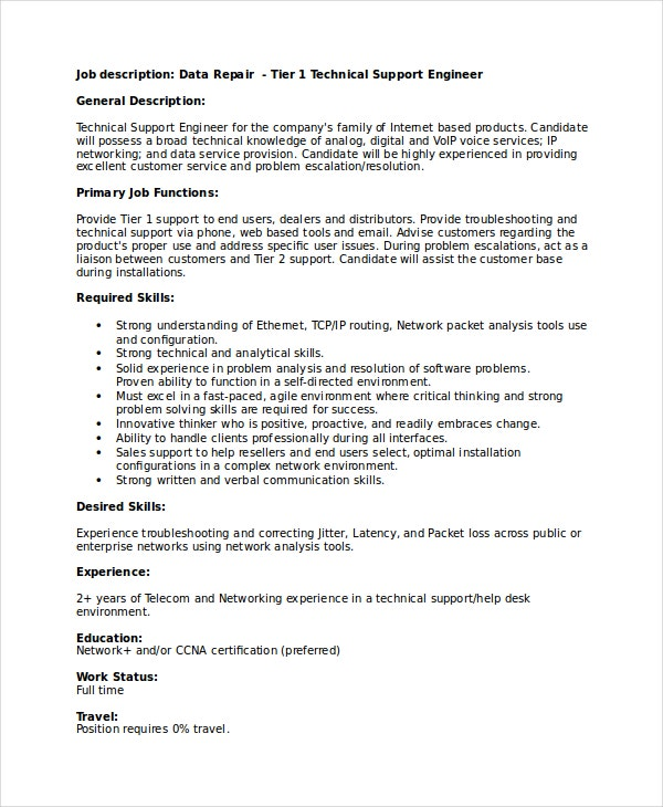 technical resume template free word pdf document downloads premium templates help desk Resume Help Desk Support Resume