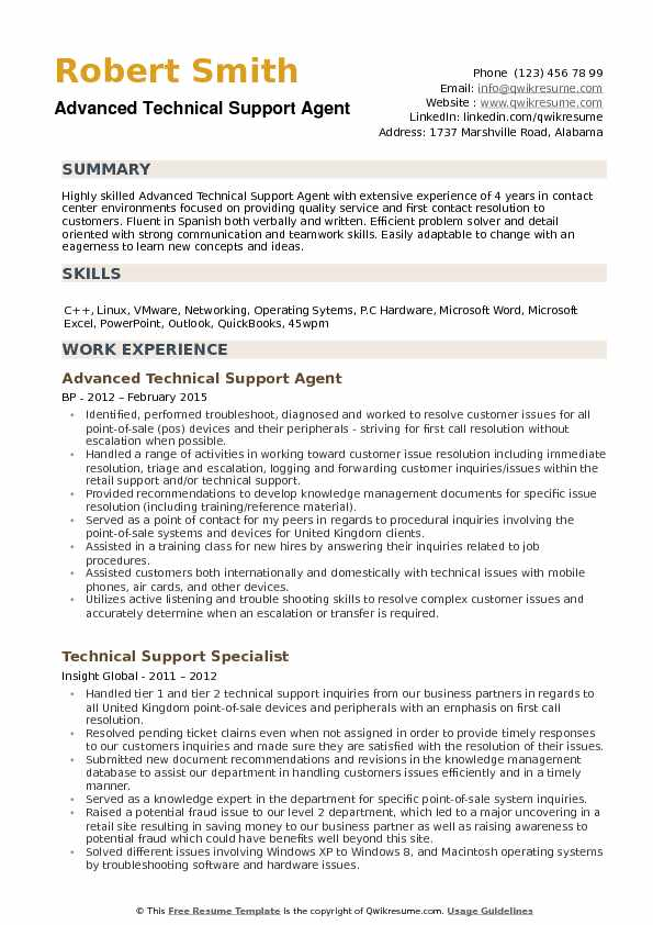 technical support agent resume samples qwikresume advanced concepts pdf administrative Resume Advanced Resume Concepts