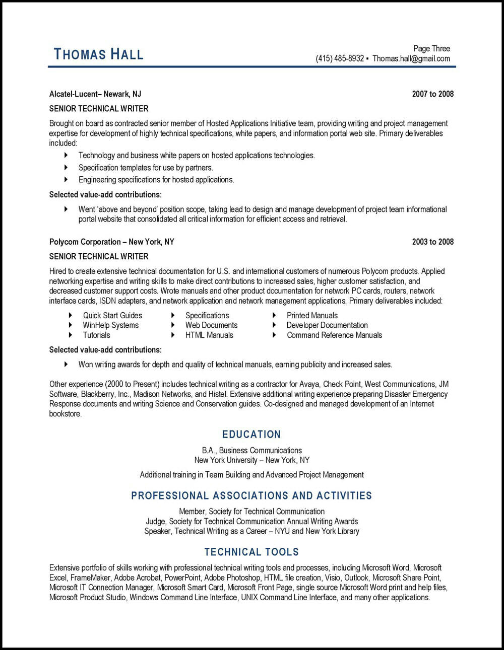technical writer resume example distinctive career services content samples employment Resume Content Writer Resume Samples