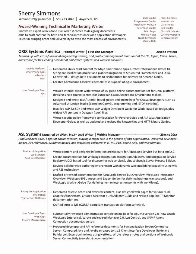 technical writer resume examples unique best images about on pi sample templates writing Resume Weblogic Resume Examples