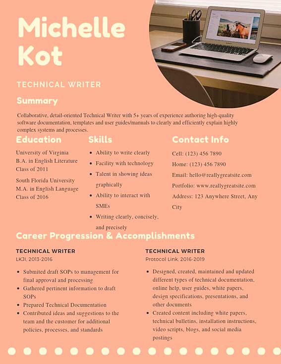 technical writer resume samples templates pdf resumes bot content example word Resume Content Writer Resume Samples