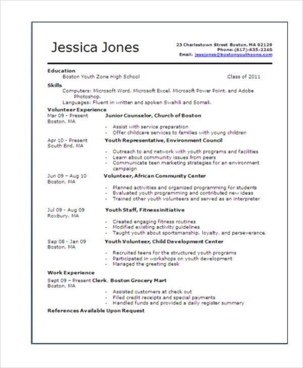 teenage resume templates pdf free premium first for teenager template objective marketing Resume First Resume For Teenager Template