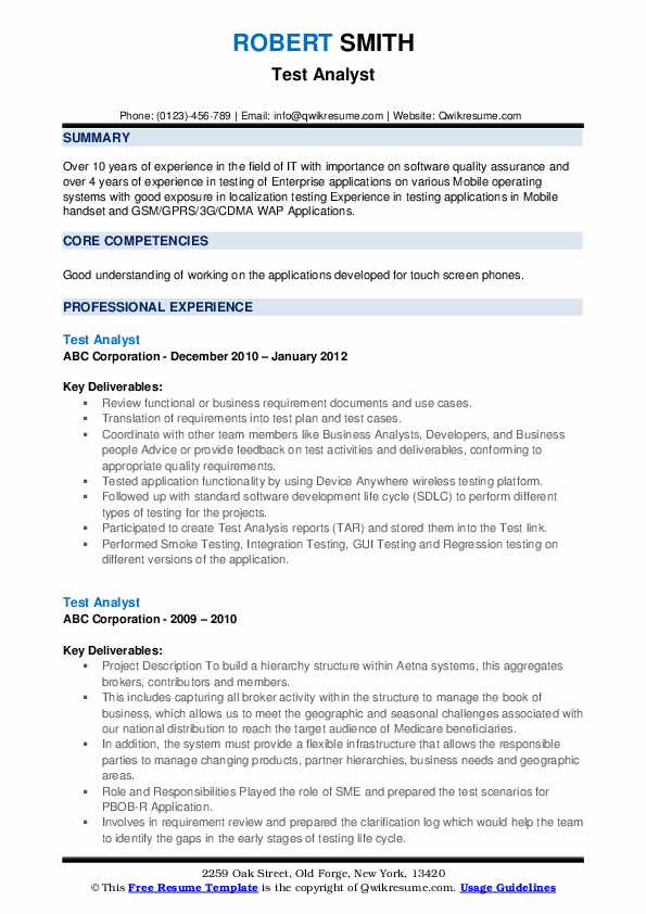 test analyst resume samples qwikresume sap pdf general counsel best high school examples Resume Sap Test Analyst Resume