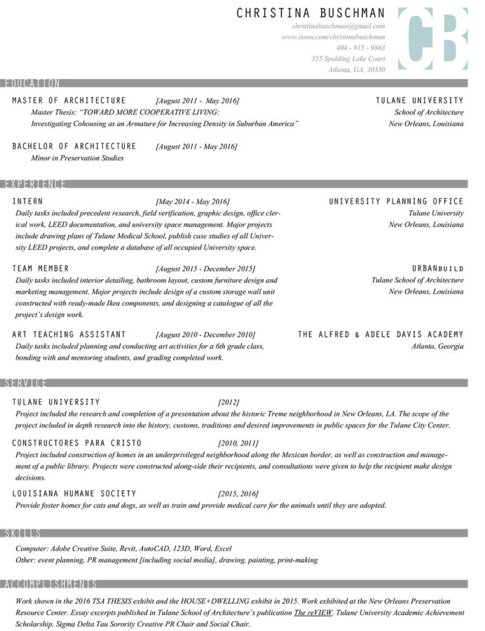 the architecture resume that gets you hired templates included graduate student busser Resume Architecture Graduate Resume