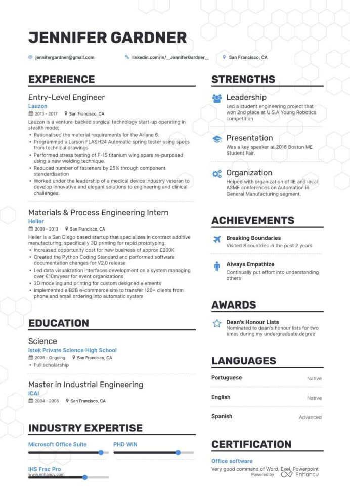 the best entry level engineer resume examples skills to get you hired graduate template Resume Graduate Engineer Resume Template