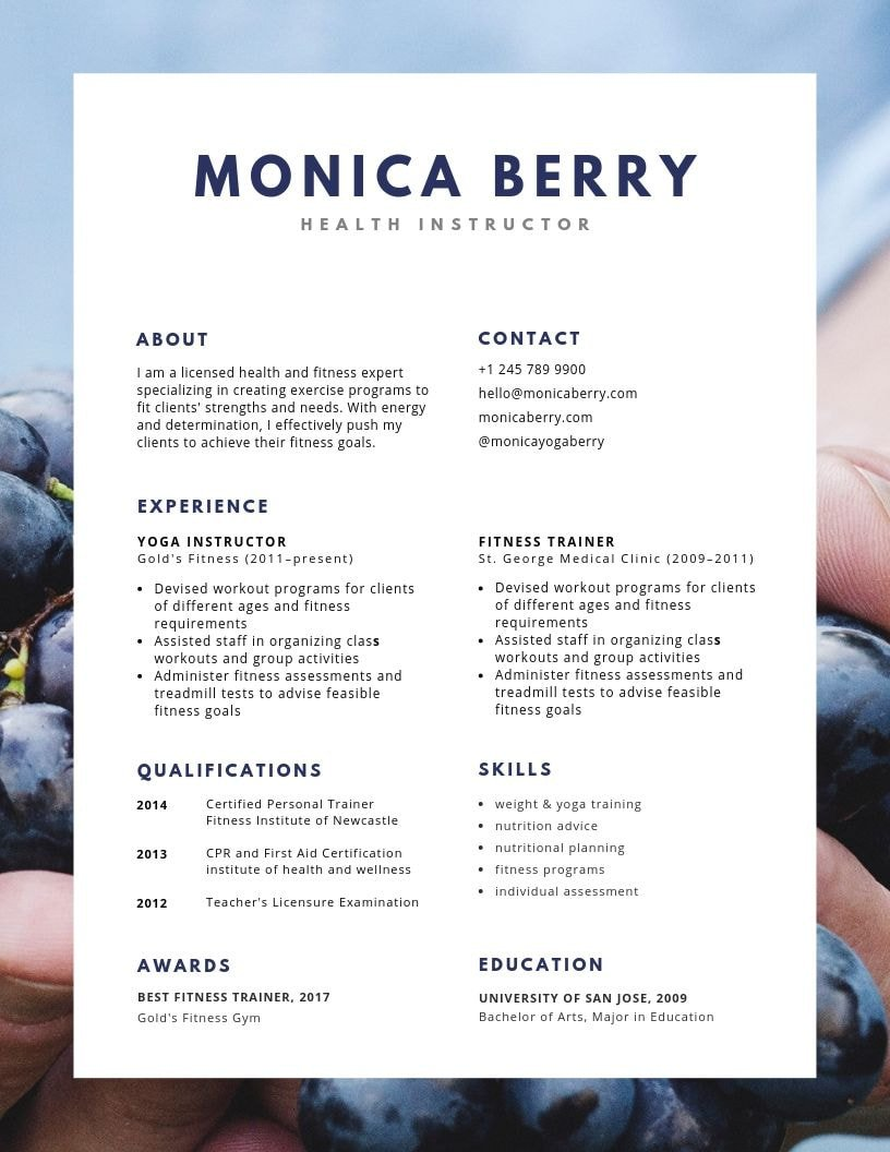 the best font for your resume according to experts canva suitable blue health photo entry Resume Font Suitable For Resume
