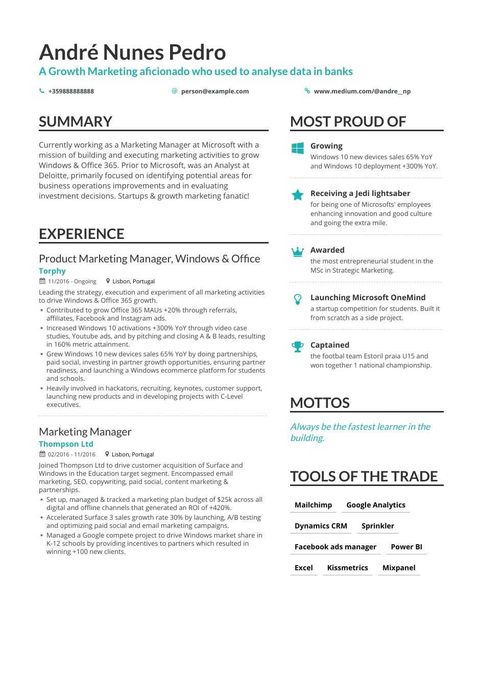 the best growth marketing resume examples skills to get you hired areas of for fnp Resume Areas Of Growth For Resume