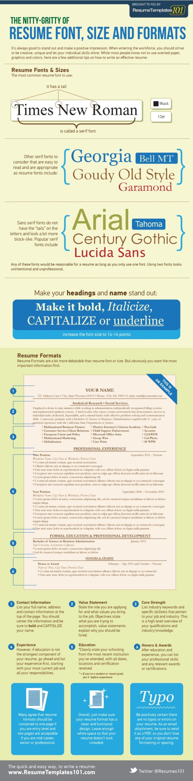 the best resume font size and format for fonts stanford career center executive template Resume Best Font Size For Resume 2020