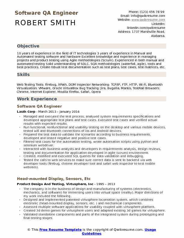the best software engineer cv examples and templates for resume design qa example fun Resume Software For Resume Design