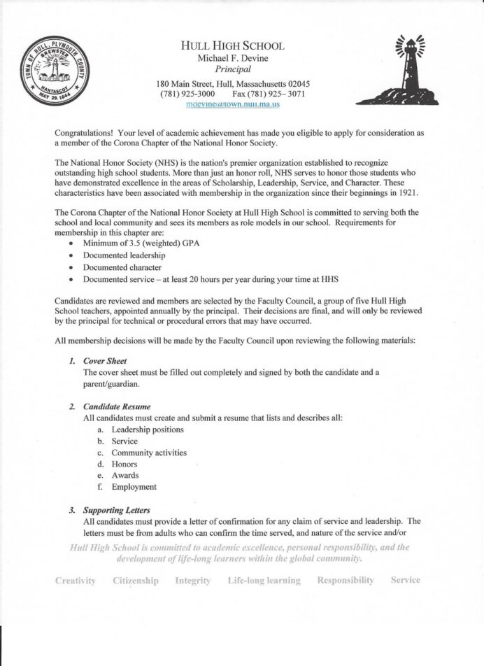 the hull high school blog important national honor society information resume scan0003 Resume National Honor Society Resume