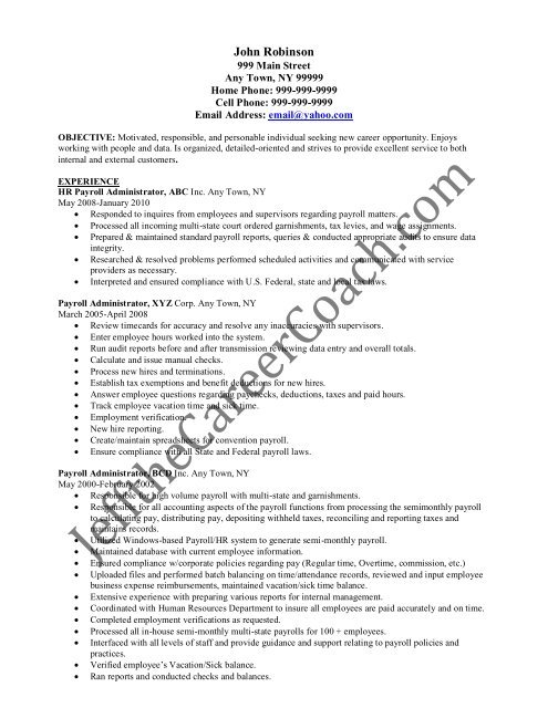 the payroll administrator resume sample one in pdf coordinator creative consultant Resume Payroll Coordinator Resume