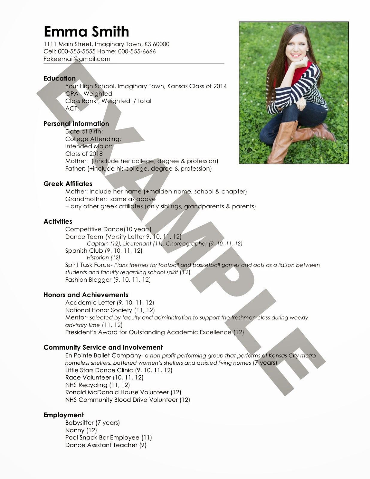 the ultimate guide to sorority recruitment write resume seeking south for fraternity fake Resume Resume For Fraternity Rush